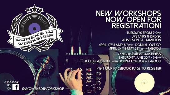 Women's DJ Workshop - Spring:Summer 2018 Workshops - Full COVER IMAGE